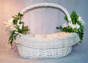 Comment d corer un panier de mariage - Decorer un panier en osier ...