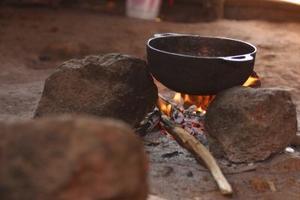 Pierres chaudes, modes de cuisson