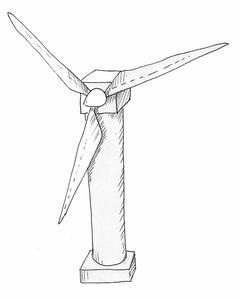 Comment faire un modèle simple d'une éolienne