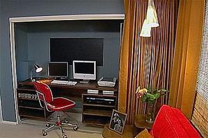 comment convertir un placard dans un bureau. Black Bedroom Furniture Sets. Home Design Ideas