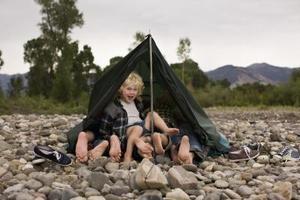 Artisanat de tente pour les enfants