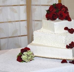 Comment mettre des roses sur les gâteaux de mariage