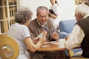 Coin jeux pour les personnes âgées