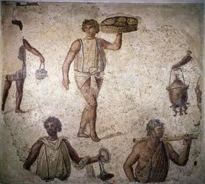Quels sont les aliments les esclaves romains mangeaient ?