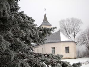 D corations de porte d 39 glise de mariage hiver for Decoration porte hiver