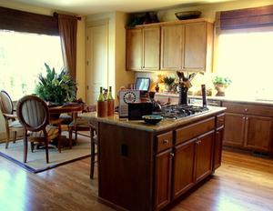 Couleurs des rideaux qui ont l'air mieux avec une cuisine en chêne