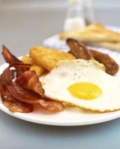 Aliments du petit déjeuner riche en protéines