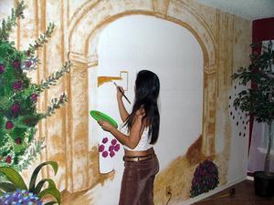 Comment peindre un mur arc