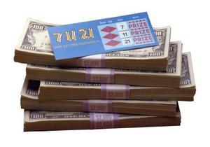 Comment faire une guirlande de billets de loterie