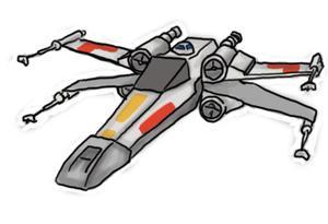 Comment dessiner les v hicules star wars - Comment dessiner une star ...