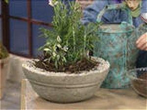 fabriquer pots en ciment avec serviette. Black Bedroom Furniture Sets. Home Design Ideas