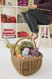 Instructions pour savoir comment tricoter un coussin rond