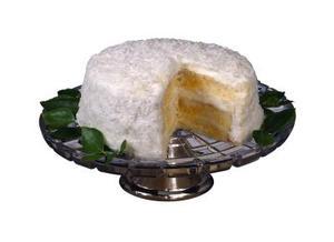 Comment faire un gâteau boîte blanche dans un gâteau de noix de coco