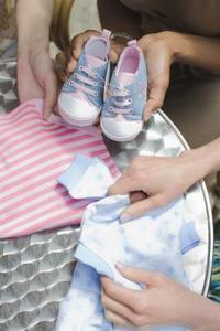 Décorations d'empreintes bébé douche