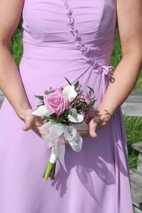 Idées de mariage en plein air violet
