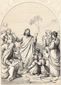 Artisanat de la Bible pour les petits enfants qui viennent à Jésus