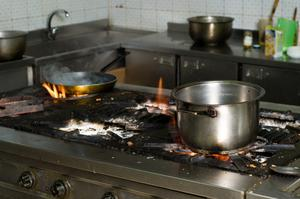 Cuisine de sécurité incendie pour les enfants