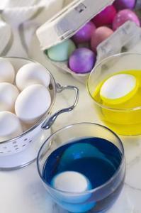 Iode et des expériences de coloration de nourriture
