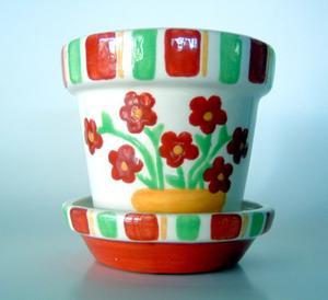 fabriquer un pot de fleur en argile. Black Bedroom Furniture Sets. Home Design Ideas