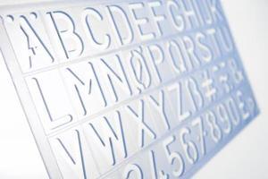 Comment faire des polices dans table de caractères