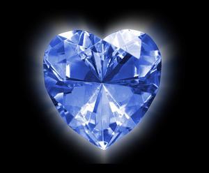 Effets de lumière noire sur le diamant