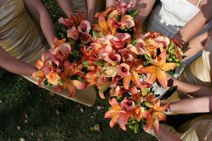 Coiffures de mariage pour les filles de fleur