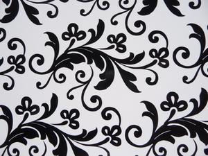 Idées de design de salon en noir & blanc