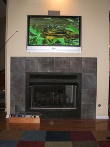 comment monter une t l vision lcd au dessus d 39 une chemin e. Black Bedroom Furniture Sets. Home Design Ideas